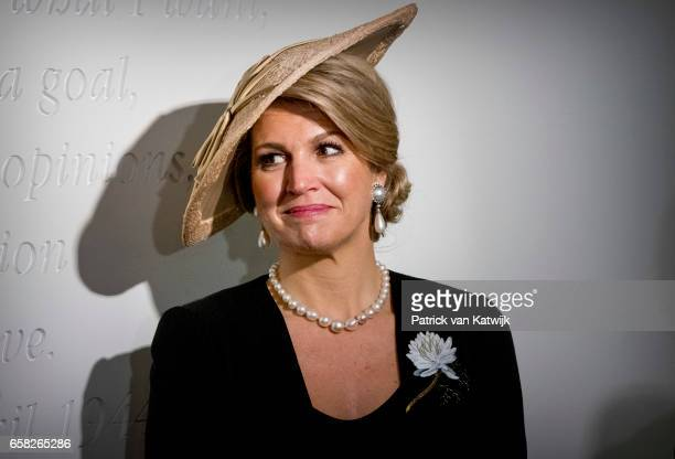 Queen Maxima of The Netherlands visits the Anne Frank House on March 27 2017 in Amsterdam The Netherlands The President of Argentina is in the...