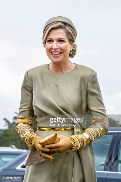 Queen Maxima of The Netherlands visits the Cathedral in Radio Kootwijk for the campaign for campaign more music education at school on May 10, 2021...