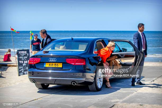 Queen Maxima of The Netherlands visits the Dutch Island Texel where the Queen gets informed about the effect of the Coronavirus on tourism on May 28...