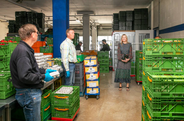 NLD: Queen Massima Of The Netherlands Visits  Food Bank In Delft