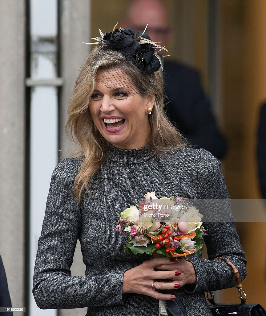 King Willem-Alexander Of The Netherdands And Queen Maxima Of The Netherlands Visit a Former Mining Region : News Photo