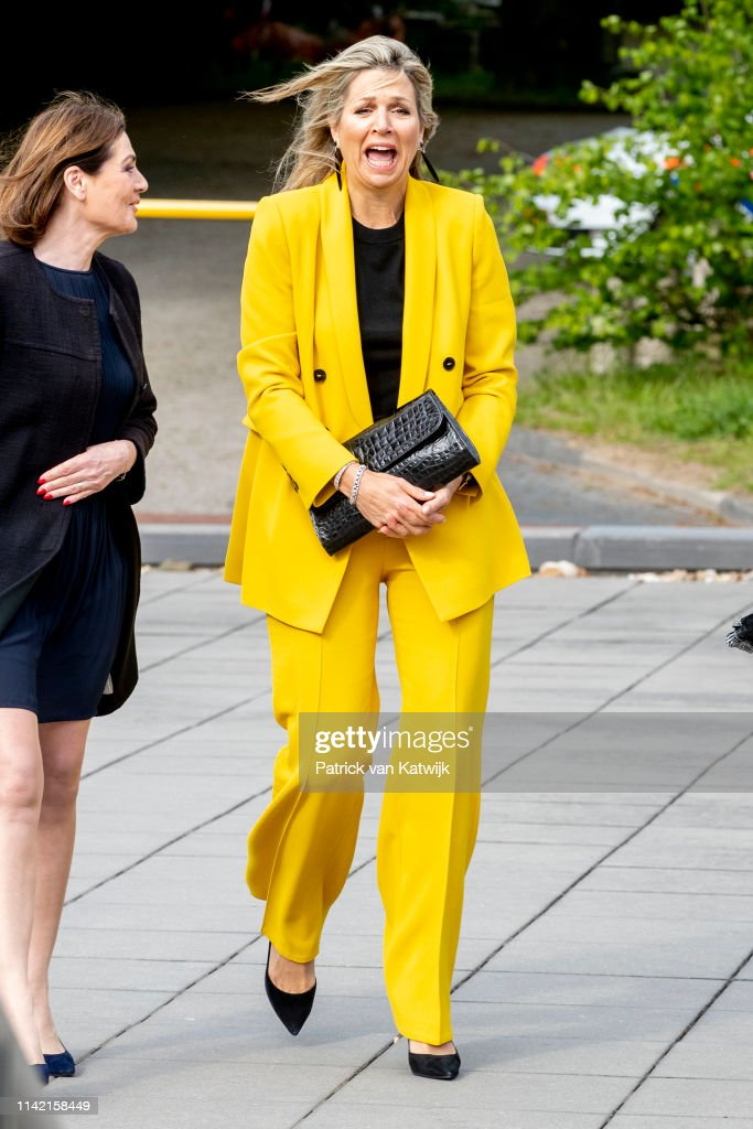 Queen Maxima Of The Netherlands Visits Foundation Make A Wish In Amsterdam : News Photo