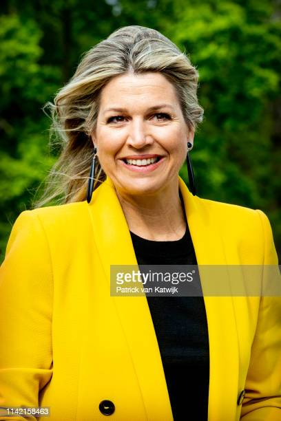 Queen Maxima of The Netherlands visits the Foundation Make a Wish on the occasion of their 30th anniversary on May 8, 2019 in Hilversum, Netherlands....
