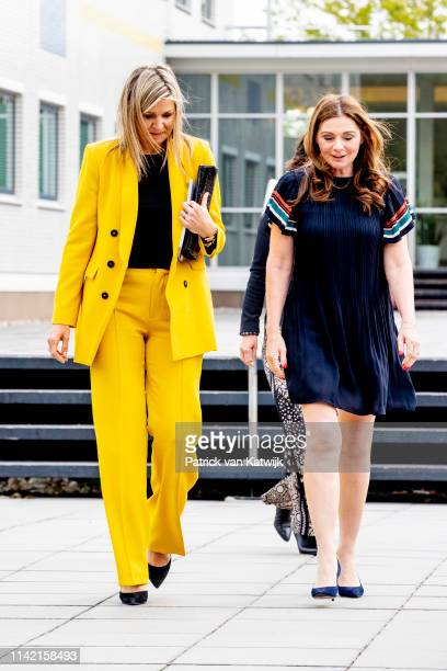 Queen Maxima of The Netherlands visits the Foundation Make a Wish on the occasion of their 30th anniversary on May 8 2019 in Hilversum Netherlands...