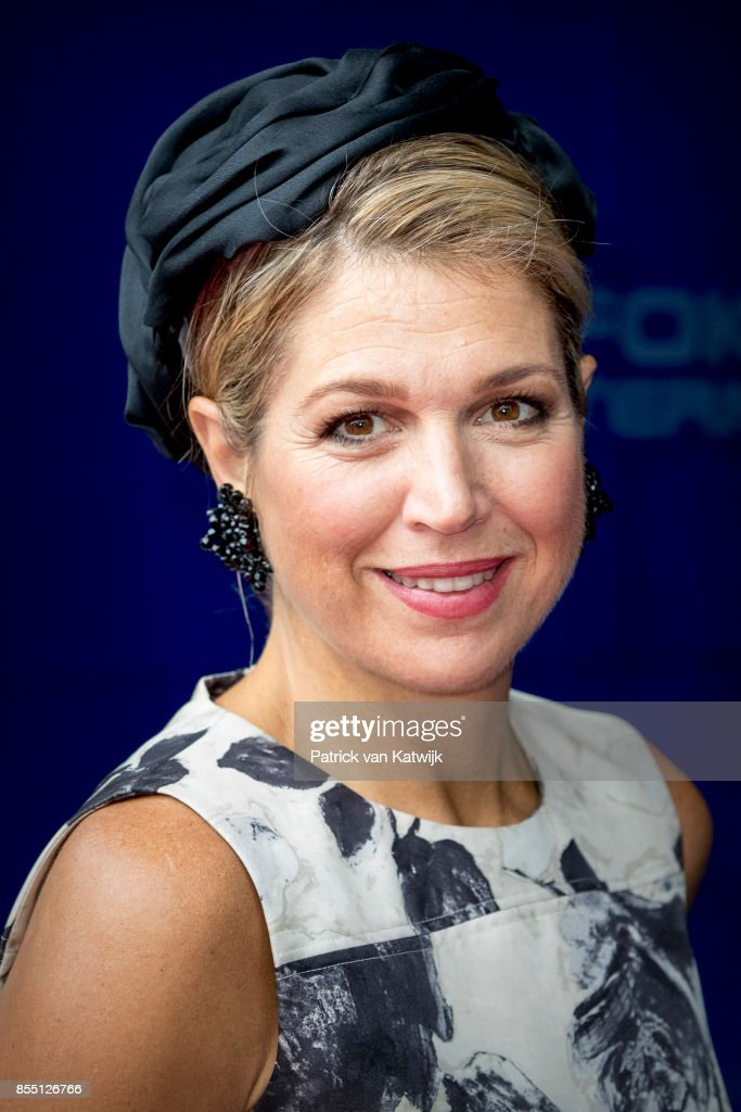 Queen Maxima Of The Netherlands Attends World Of Health Care Congress 2017 In The Hague : Nieuwsfoto's