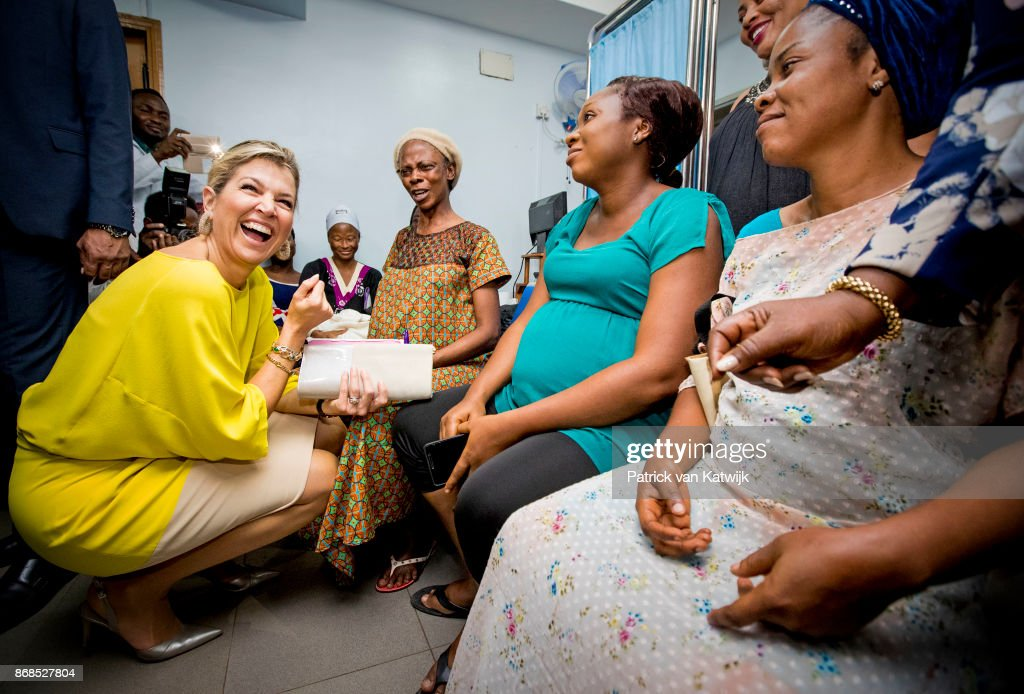 Queen Maxima Of The Netherlands Visits Nigeria : Day One : Foto di attualità