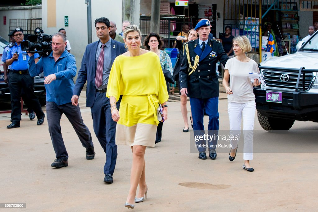 Queen Maxima Of The Netherlands Visits Nigeria : Day One : Nieuwsfoto's