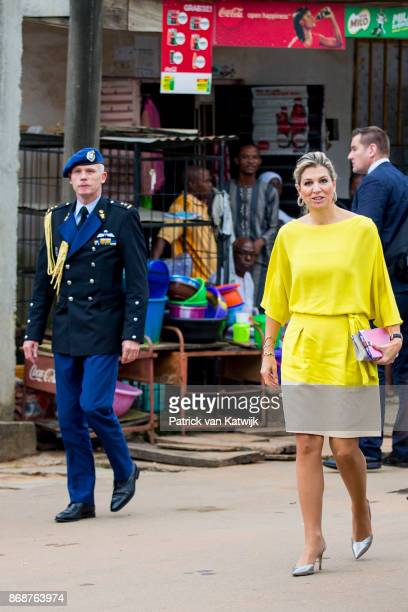 Queen Maxima of The Netherlands visits the Subol Hospital to get information about acces to insurances from platform PhamAcces on October 31 2017 in...