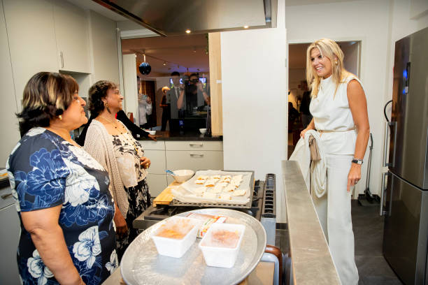 NLD: Queen Maxima Of The Netherlands Visits Thuis West In Rotterdam