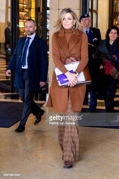Queen Maxima of The Netherlands visits the UN office for an round table meeting with development partners welcomed by UN Resident coordinator Anders...