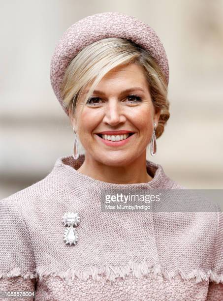 Queen Maxima of the Netherlands visits Westminster Abbey on day one of her and King WillemAlexander's State Visit on October 23 2018 in London United...