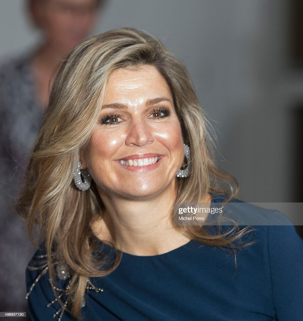 Queen maxima Of The Netherlands Attends 'Kracht On Tour' Financial Support Workshops For Women In The Hague : News Photo
