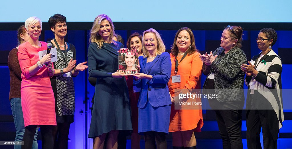"""Queen Maxima Of The Netherlands Attends """"Kracht On Tour"""" Financial Support Workshops For Women In The Hague : News Photo"""