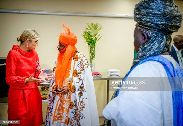 Queen Maxima of The Netherlands with the Emir of Kano Mallam Muhamned Sanusi attend a Enhancing Financial Innovation and Access event 'The Role of...