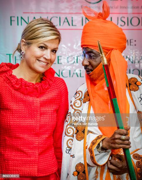 Queen Maxima of The Netherlands with the Emir of Kano Mallam Muhamned Sanusi at the Enhancing Financial Innovation and Access event 'The Role of the...