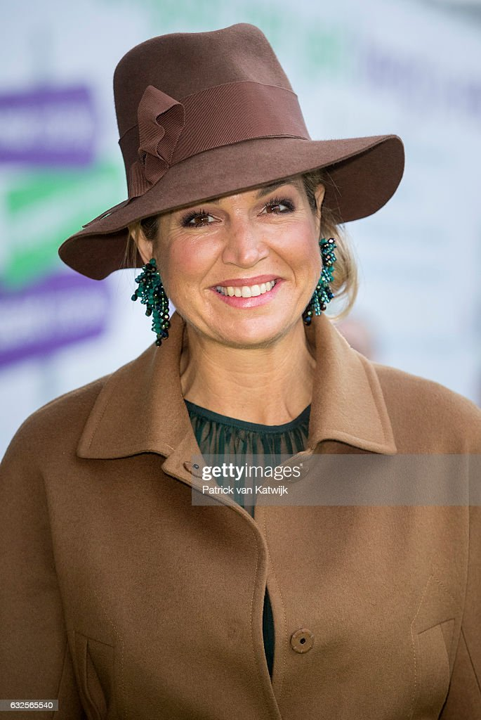 Queen Maxima Of The Nederlands Attends The Opening Of The National Exhibtion In Utrecht