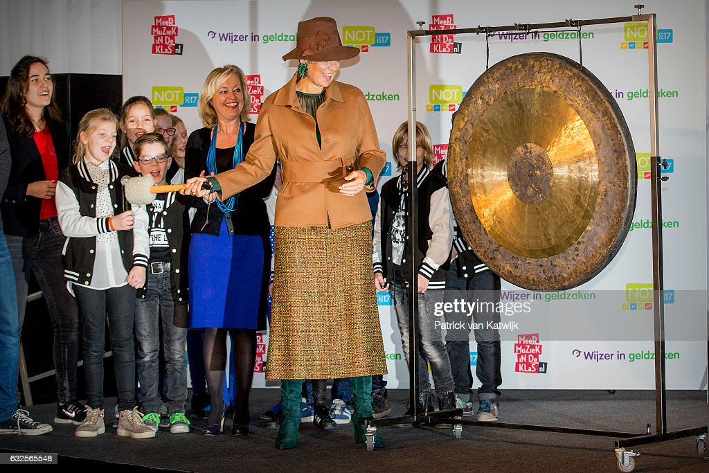 Queen Maxima of The Nederlands Attends the opening of the National Education Exhibtion In Utrecht : News Photo