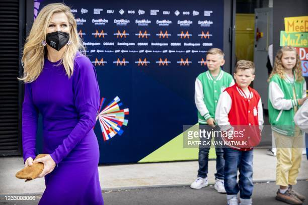 Queen Maxima visits during the rehearsal of the Eurovision Song Contest in Rotterdam on May 20, 2021. - Netherlands OUT / Netherlands OUT