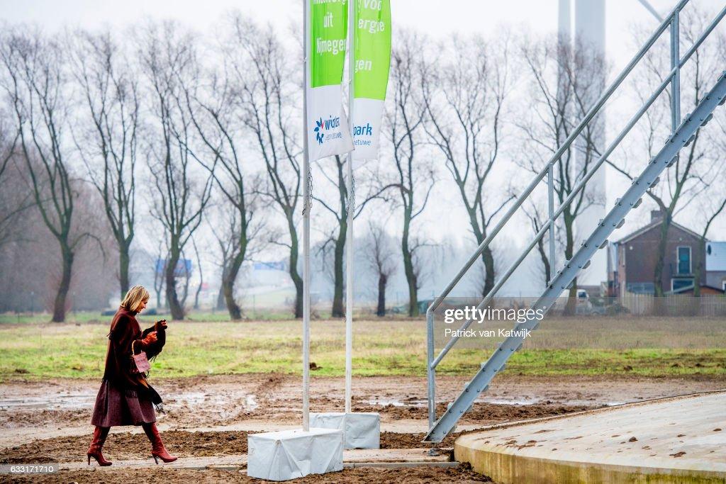 Queen Maxima Of The Nederlands Visits Windmill Park Nijmegen-Betuwe : News Photo