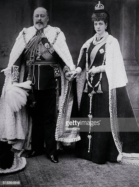 Queen Mother Alexandra, widow of King Edward VII and mother of King George V died late afternoon at Sandringham House, England. This fine photo was...