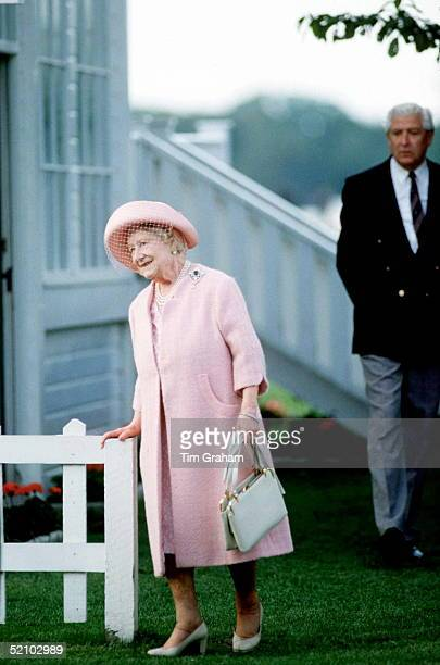 Queen Mother At Eton Boys Tea Party After Ascot