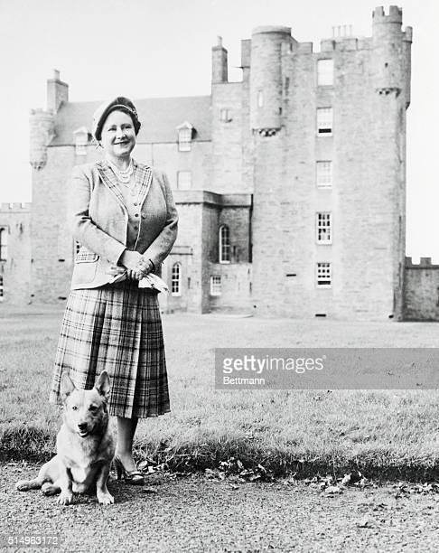 Queen Mother at Her Castle. Caithness, Scotland: In residence for the first time at her new Scottish home, the castle of Mey, Queen Mother Elizabeth...