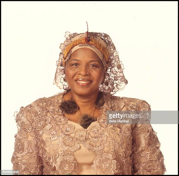 Queen mother Ntombi Twalai of Swaziland is photographed in 2005 in New York City