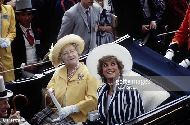 Queen Mother Princess Of Wales At Ascot