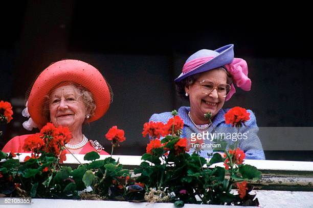Queen Mother With The Queen At The Derby
