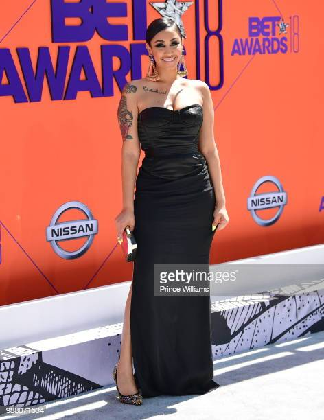 Queen Naija arrives to the 2018 BET Awards held at Microsoft Theater on June 24 2018 in Los Angeles California