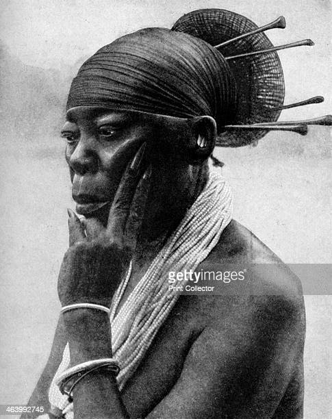 Queen Nenzima of the Mangbetu Belgian Congo 1922 From Peoples of All Nations Their Life Today and the Story of Their Past volume I Abyssinia to the...