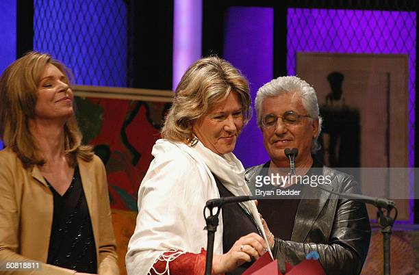 Queen Noor and Germano Celant of Fondazione Prada present the award for Best Documentary Feature to director Cathy Henkel for The Man Who Stole My...