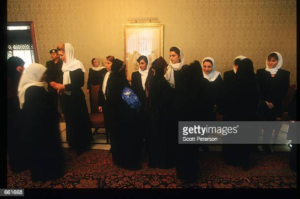 Queen Noor and the royal family accepts condolences after the death of King Hussein February 9 1999 in Amman Jordan Hussein was a popular figure who...