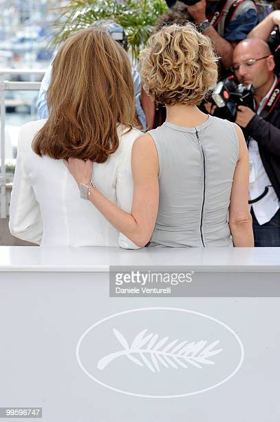 Queen Noor of Jordan and actress Meg Ryan attends the 'Countdown to Zero' Photo Call held at the Palais des Festivals during the 63rd Annual...