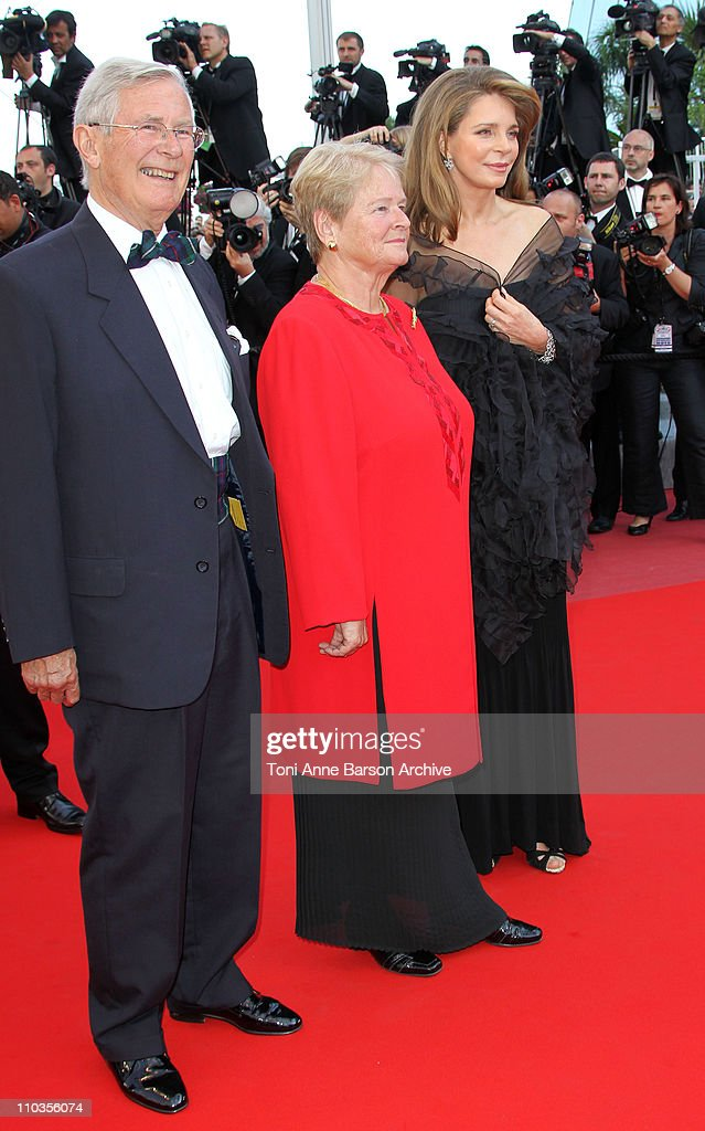 Queen Noor of Jordan (R) and former Norway's Prime Minister Dr Gro Bruntland (C) attend the premiere of 'Countdown to Zero' held at the Palais des Festivals during the 63rd Annual International Cannes Film Festival on May 17, 2010 in Cannes, France.