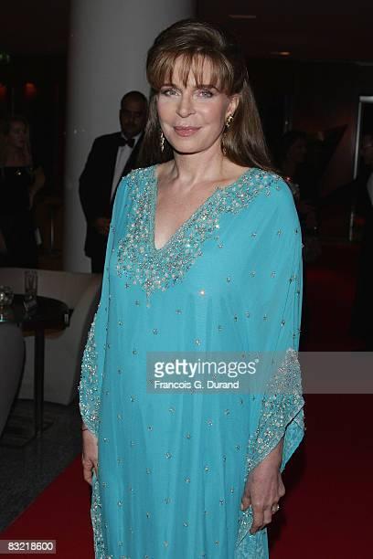 Queen Noor of Jordan arrives to attend the Cinema Verite Festival Opening night on October 10, 2008 in Geneva, Switzerland.
