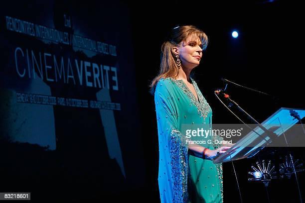 Queen Noor of Jordan attends the Cinema Verite Festival Opening night on October 10, 2008 in Geneva, Switzerland.