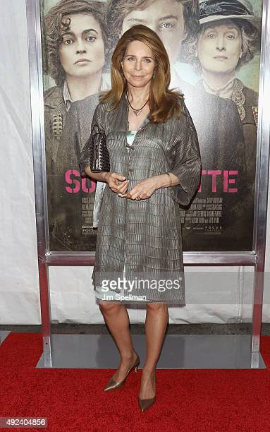 Queen Noor of Jordan attends the Suffragette New York premiere at The Paris Theatre on October 12 2015 in New York City