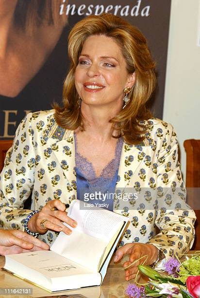 Queen Noor of Jordan during Queen Noor of Jordan Signs her Autobiography Book Memories of an Unexpected Life Madrid at El Corte Ingles in Madrid Spain