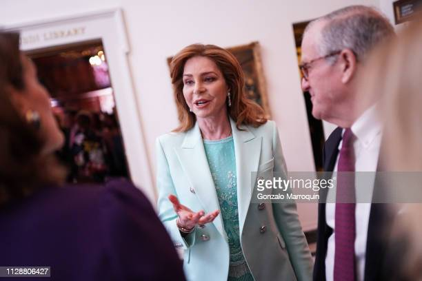 Queen Noor of Jordan during the Teaching Matters Celebrates 25th Anniversary at Harold Pratt House on March 5 2019 in New York City