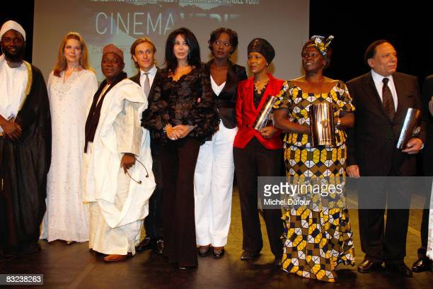 Queen Noor of Jordan Jeremy Gilley Yamina Bengugui Rama Yade Euzhan palcy Wangari Maathai and Abdel Imam attend the Cinema Verite Award Ceremony...