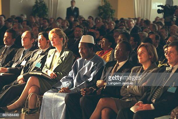 50TH ANNIVERSARY OF 'UICN' Queen Noor Oumar Konare Blaise Compaore and Dominique Voynet