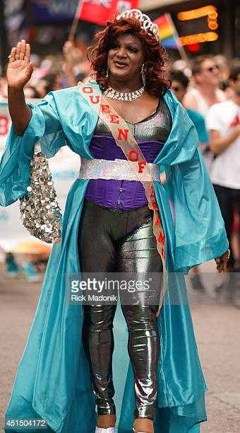 TORONTO JUNE 29 Queen of Bermuda marches in the parade World Pride is celebrated during this year's Pride events with the big event being the Parade...