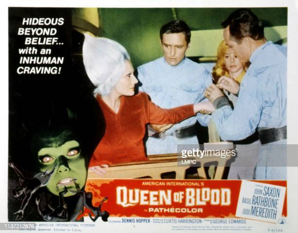 Queen Of Blood lobbycard Florence Marley Dennis Hopper Judi Meredith 1966