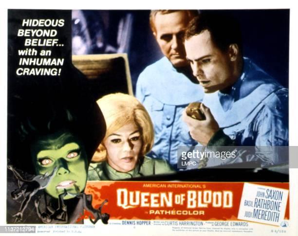 Queen Of Blood lobbycard Judi Meredith John Saxon 1966