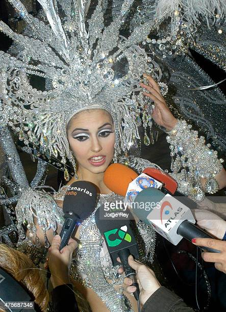 Queen of Carnival Cindy Klein attends the Queen Gala during Las Palmas Carnival on February 28 2014 in Las Palmas de Gran Canaria Spain The Carnival...