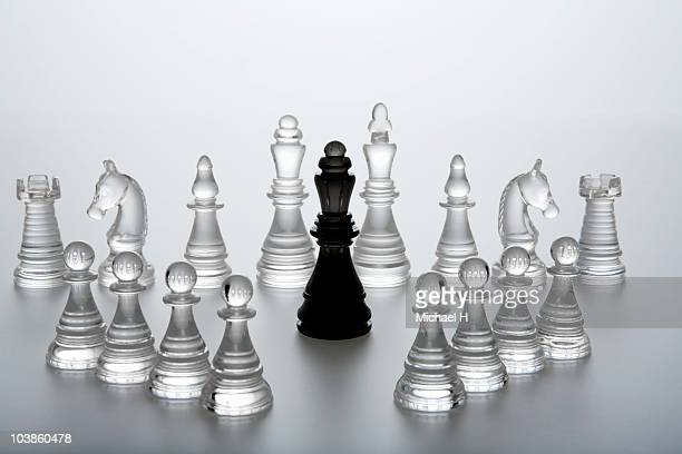 Queen of chess enclosed by enemy's horse