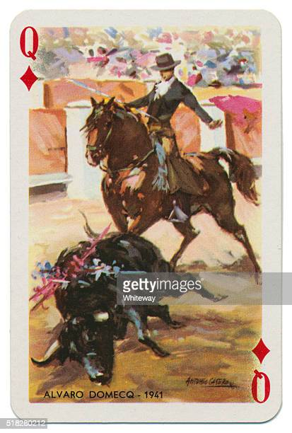 Baraja Taurina bullfighter Queen of Diamonds 1965