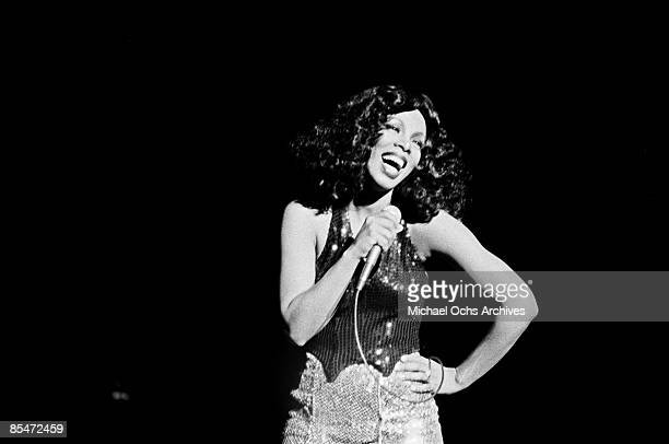 'Queen of Disco' Donna Summer performs onstage at the Civic Center on March 26 1978 in Atlanta Georgia
