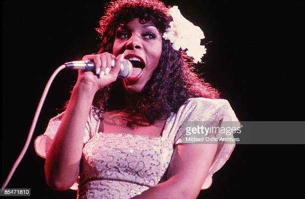 'Queen of Disco' Donna Summer performs onstage in 1978